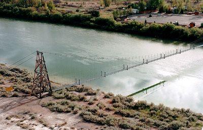 Walked the star mine suspension bridge, Drumheller Alberta.