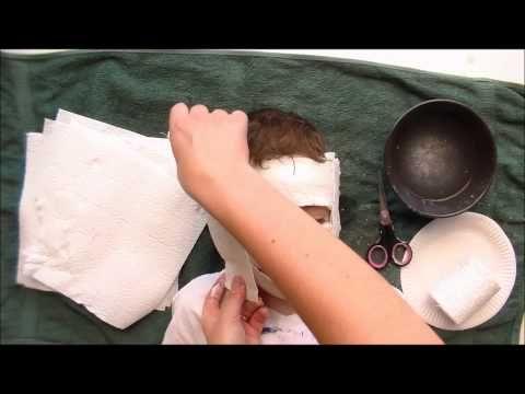 08-jouer avec le plâtre : Masque