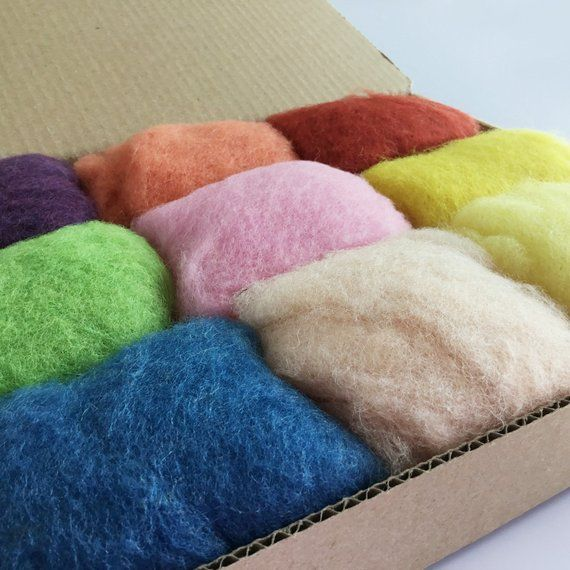 Corriedale Wool Roving One Ounce Assorted Colors for Felting and Spinning NZ Candy Floss