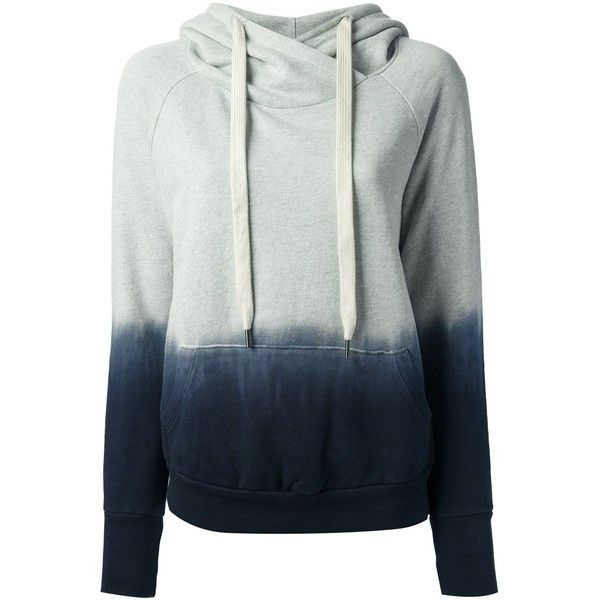 NSF tie dye hoodie ($372) ❤ liked on Polyvore featuring tops, hoodies, sweaters, jackets, outerwear, navy hooded sweatshirt, cotton hoodies, sweatshirts hoodies, navy blue hoodie e tie dye hoodies