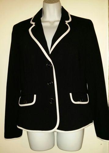 NWT - Jones New York Black&White Blazer-Size 10  . Starting at $25 on Tophatter.com!