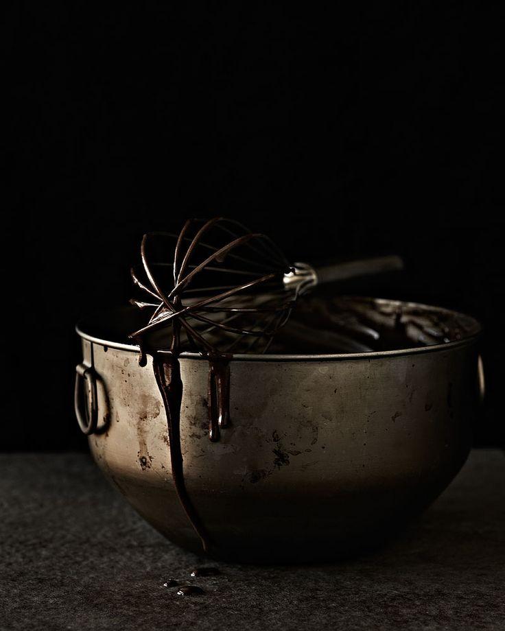 DARK CHOCOLATE CAKE WITH CHOCOLATE GANACHE AND RAW PISTACHIOS