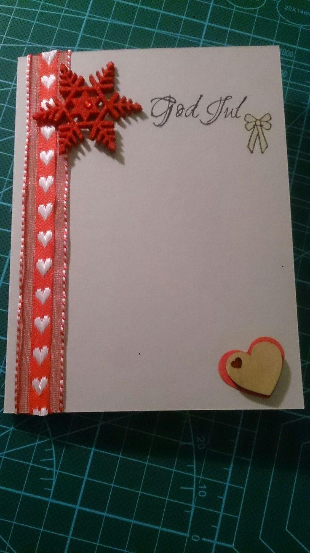 Enkelt julekort klartgjort for å lime på personlig bilde