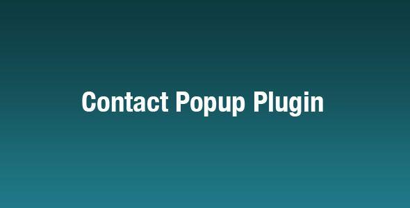 jQuery Contact Popup Plugin