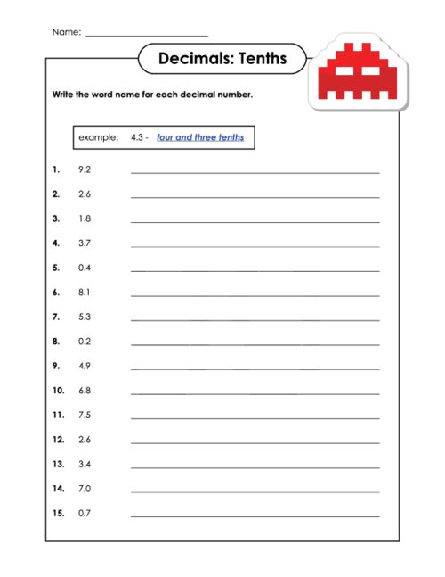 reading and writing decimals 5nbt3a read and write decimals to 6ee7 solve real-world and mathematical problems by writing and solving equations of 5nbt3a worksheets.