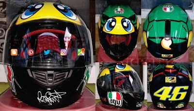 Helmet Replica - AGV Valentino Rossi Sticker #helmet #replica #replicahelmet #agv #agvhelmet #valentinorossi #vr46 #46 #sunmoon