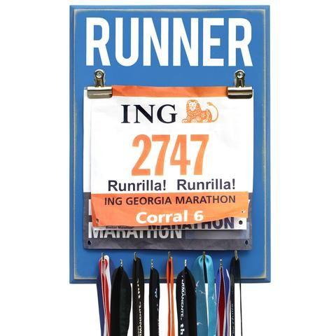 Running Medal Display - Best Gift for Runners   Medal Displays     Medal Hangers     Running Medal Holder     Medal and Bib Display   #MedalDisplays #MedalHangers https://www.runrilla.com/