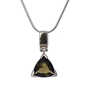 Moldavite Simple Triangle Pendant