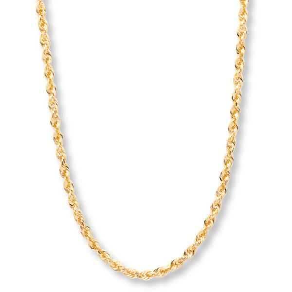 "Rope Chain 10K Yellow Gold 24"" ($3,299) ❤ liked on Polyvore featuring jewelry, necklaces, yellow gold jewelry, yellow gold chain necklace, rope chain necklace, gold jewellery and chains jewelry"