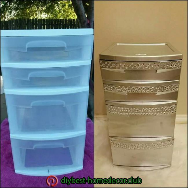 Diy Best Home Decor Diy Best Home Decor Plastic Drawer Makeover Diy Office Diy House Projects