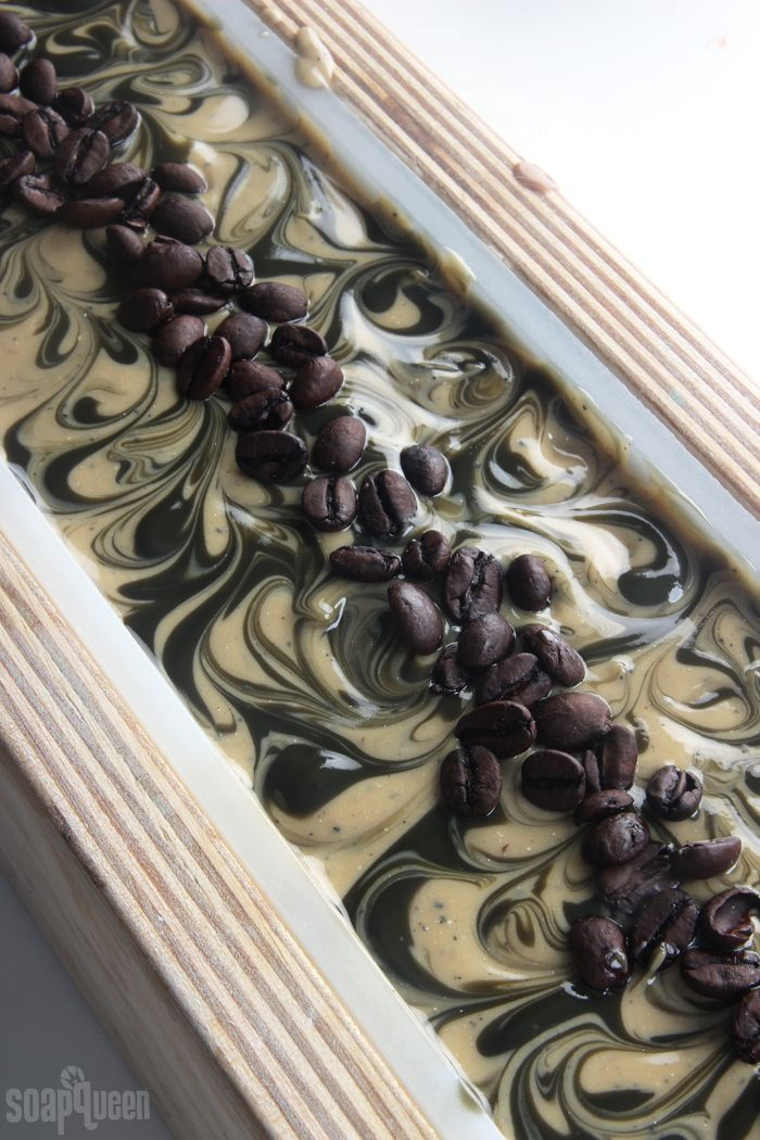 Learn how to make coffee soap from scratch! This coffee soap recipe contains freshly brewed coffee and coffee grounds for exfoliation.