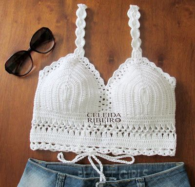 Celeida Artes em Fios: Cropped top de crochet!