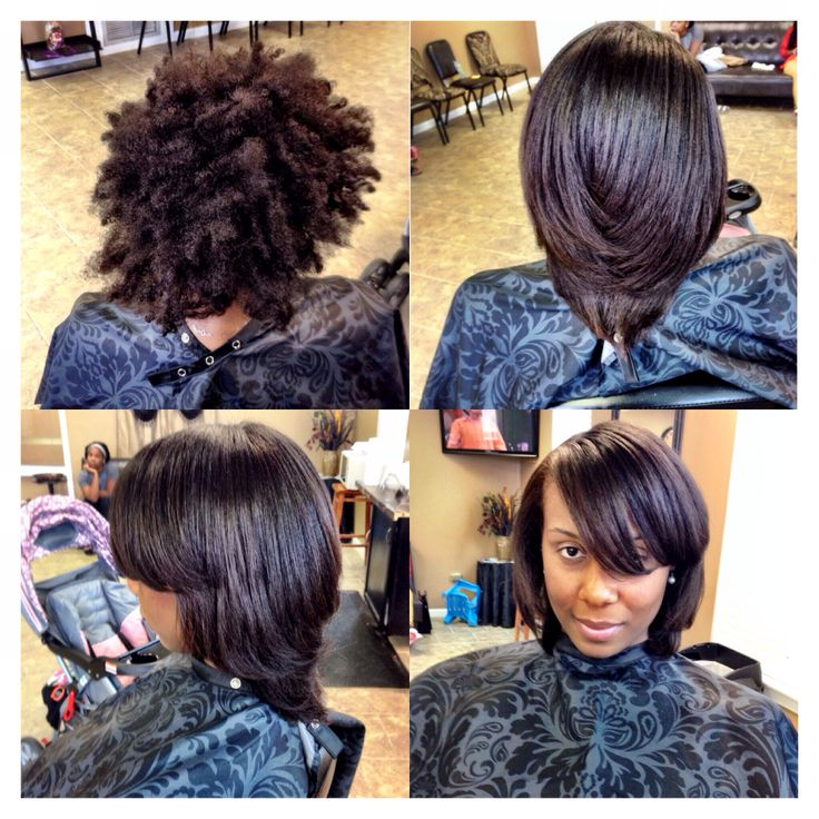 Blow out, silk press | Beautiful Black Hair | Pinterest