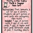 Differentiated Pretty in Pink Zebra Plural  Singular Noun Sort  Instructions: Print, laminate,  cut for use in centers.  Students will so...