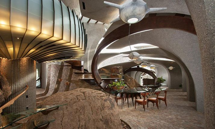 The Desert House: A Landmark Of American Organic Architecture by Kendrick Bangs Kellogg | http://www.yatzer.com/desert-house-kendrick-bangs-kellogg / Photos by Lance Gerber / Nuvue Interactive.
