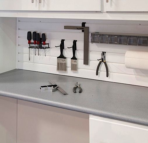 17 best garage storage solutions images on pinterest for Kitchen countertop storage solutions