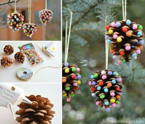 Home made Christmas tree decor
