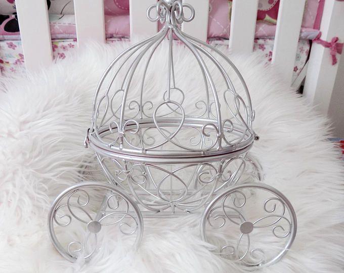 Cinderella carruaje calabaza tabla superior decoración, pastel de cumpleaños de Disney, centro de mesa princesa