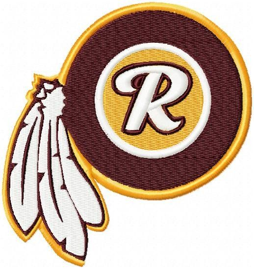Redskins Logo - Machine Embroidery Design