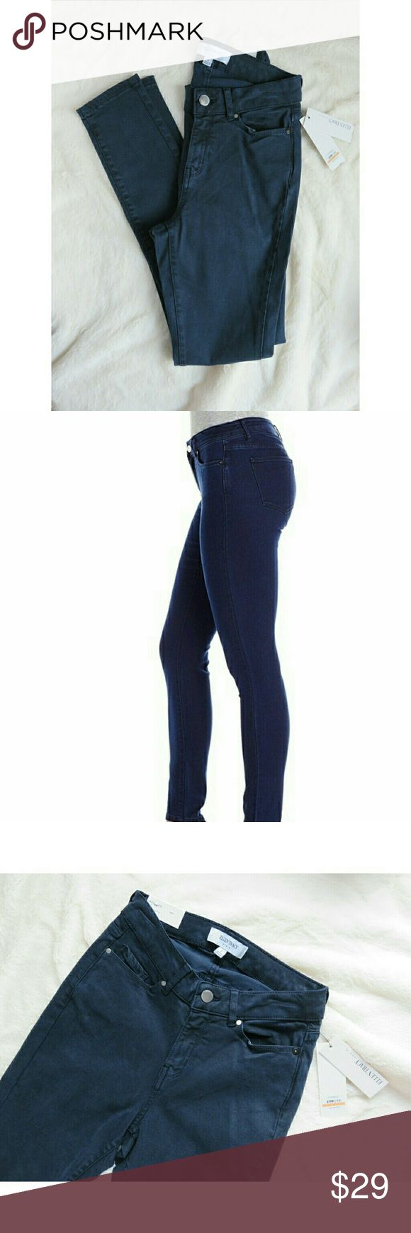 """NWT Ellen Tracy Stretch Skinny Ankle Jeans 2 Navy Meet """"Refined,"""" the perfect ankle skinny jeans in inky navy blue, new with tags from Ellen Tracy! Size Ladies 2, 64% Lyocell, 25% Cotton, 9% Polyester, 2% Elastane--the perfect stretch! """"Admiral Blue,"""" made in Bangladesh. Measures lying flat 12"""" across waist, mid-rise of 9.25"""", and ankle jean 28.25"""" inseam. New with tags consignment item, ships fast! Thank you, Jen #1229  *Stock photo for fit reference only* Ellen Tracy Jeans Skinny"""