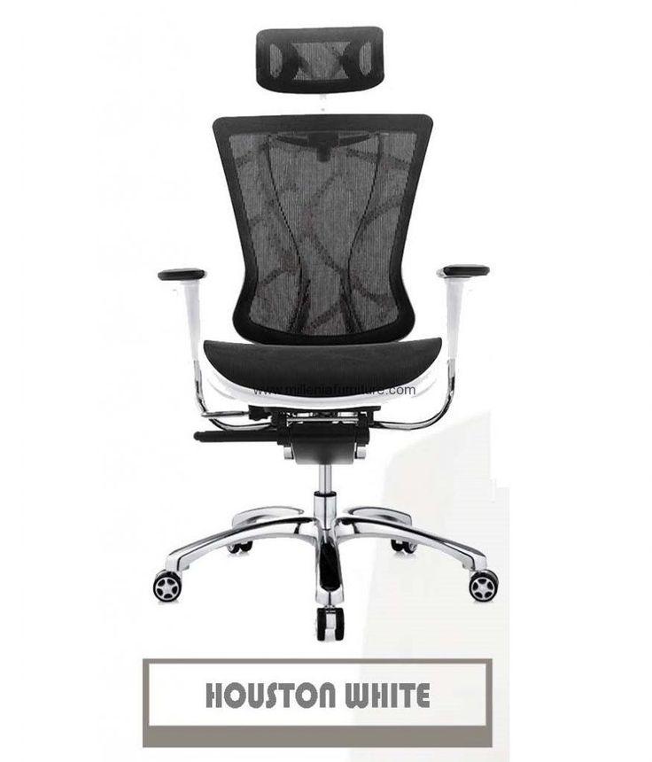 Kursi Kantor Carera Houston White