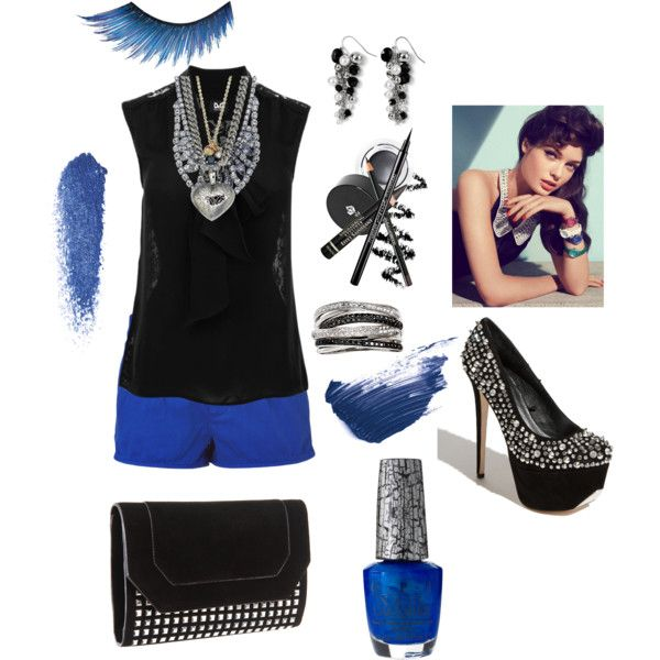 Leave you Black && Blue, created by cassiecclayton on Polyvore: Features Silk, Silk Blouses