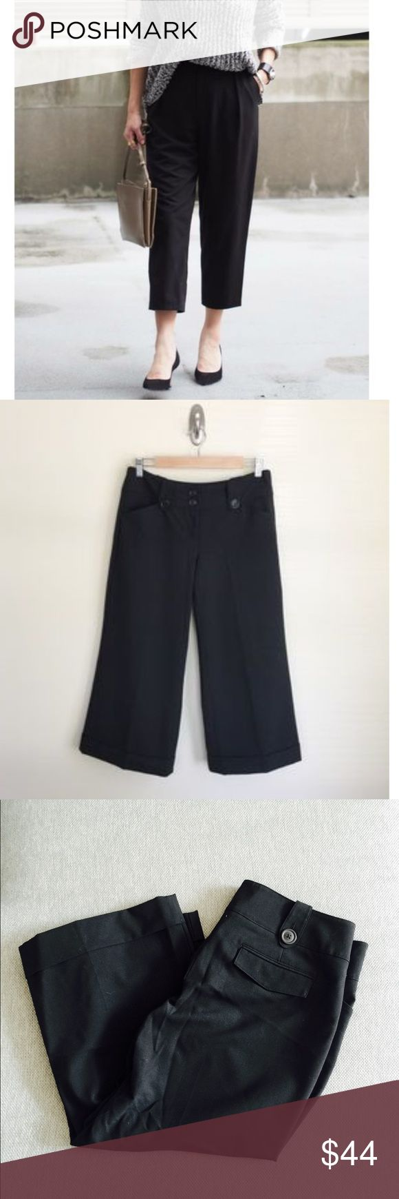 ❗️Express Design Editor Wide Leg Capris MSRP $98 ❗️Express Design Studio Editor Wide Leg Black Capris. Retails $98. Size 10 great condition! Cover photo for styling ideas only. Considering offers feel free to make one! OR, Buy 1 item at listed price, get 2nd item of equal/ lesser value FREE on bundles! All must go--Fast shipping with my Fall Clearout sale ;-) Express Pants Capris