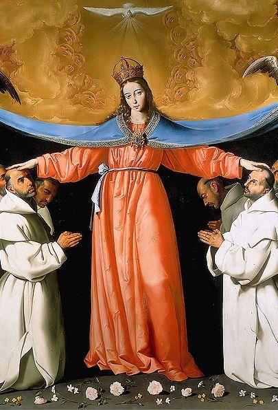 By Francisco de Zurbarán (1598-1664), Virgen de las Cuevas, Museum of Fine Arts of Seville. (Spanish painter)