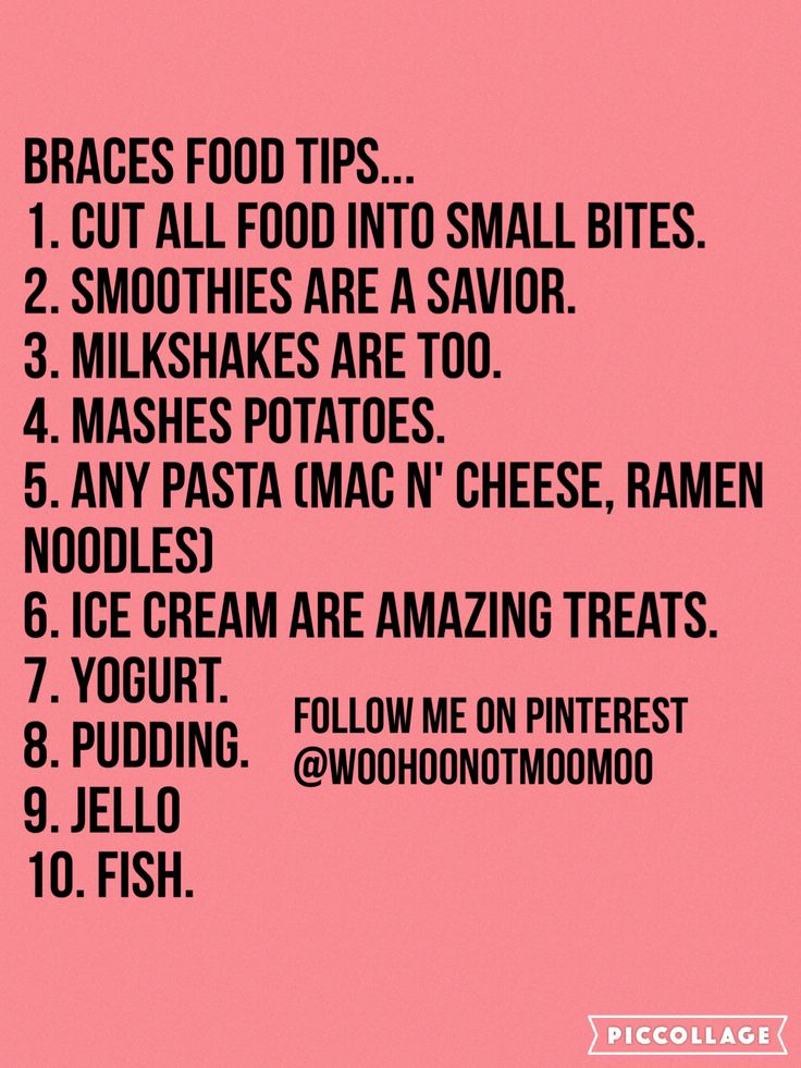 braces tips for food (With images) Braces food, Braces