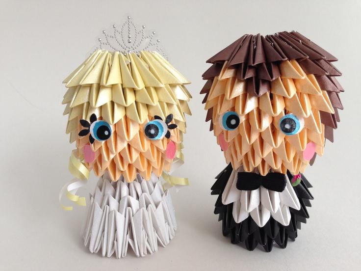 Handmade Wedding Cake Toppers  100% Paper