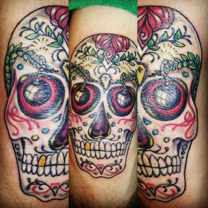 sugar skull elbow tattoos by me sumer dark star tattoo pinterest. Black Bedroom Furniture Sets. Home Design Ideas