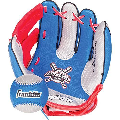 Franklin Sports Air Tech Soft Foam Baseball Glove and Ball Set For Kids-Youth by Franklin Sports: 9 banded soft foam glove;Durable soft…