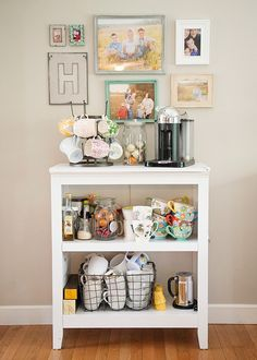 DIY Coffee Station - How to make a home coffee station in your kitchen.