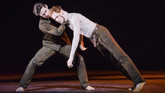Watson, right, with Tristan Dyer, in the Royal Ballet's Woolf Works. Picture: Tristram Kenton