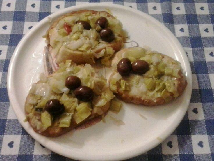 Pane porri e olive