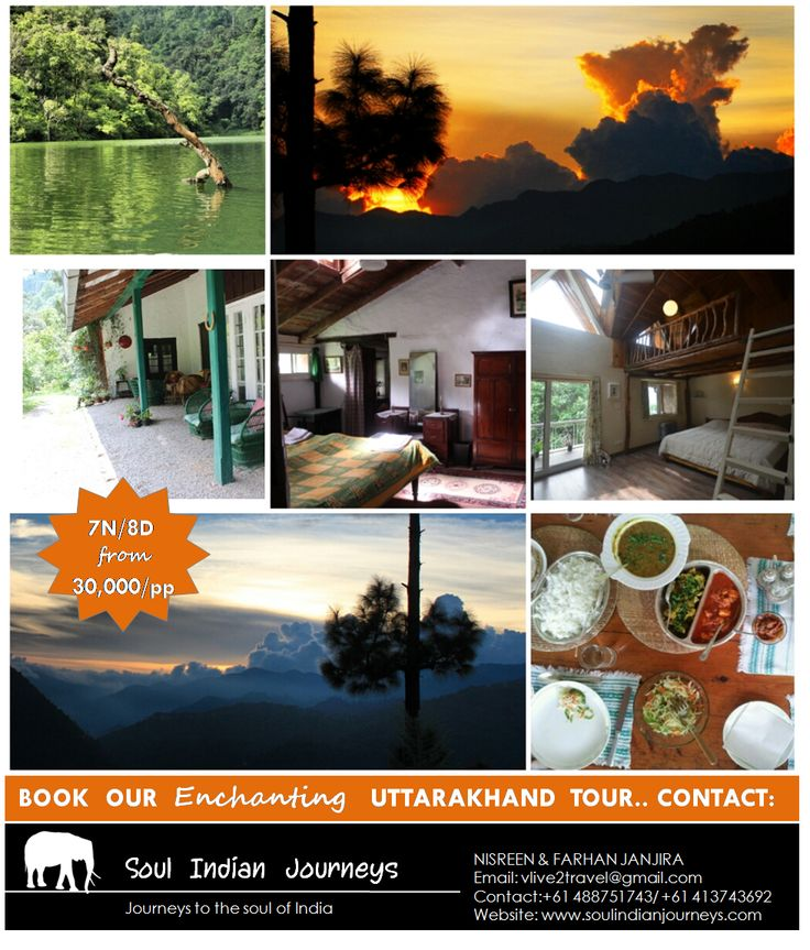 Enchanting  UTTARAKHAND TOUR PACKAGE 7N/8D  30,000/pp:- *Ex Delhi { Bhimtal + Nathuakhan + Naukuchiyatal+ Nainital}   Offbeat  Uttarakhand 7N/8D:-   A Uttarakhand holiday is the perfect  escape to beat the chaos and hot climates of the urban cities. Walking through the clouds, breathing in the fresh crisp air when all you hear is the chirp of birds, the sound of breeze, the movement of leaves as the winds gently kiss them are all the little pleasure you shall experience on the mountains.