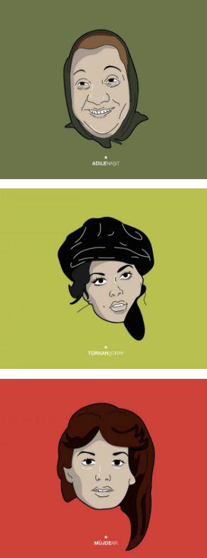 Yeşilçam Aktrislerinin Portre İllüstrasyonları  #Yeşilçam #yeşilçamsinemasi #sinema #Türksineması #AyşenGruda #AdileNaşit #TürkanŞoray #GülşenBubikoğlu #HülyaKoçyiğit #FilizAkın #MüjdeAr #OyaAydoğan #NeclaNazır #illustrasyon #aktris #actress #illustration #movie #film #moviestar