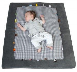 Snoozebaby Mata do zabawy z bawełny organicznej kolor szary