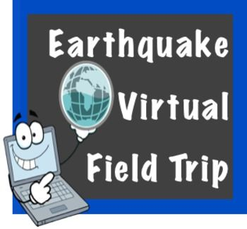 Earthquake Virtual Field TripWant to experience an earthquake from the comfort of your computer lab?  Then take your class on a virtual field trip!  Students visit four websites focused on earthquakes.  They watch a video, read important earthquake facts, chart the most recent earthquake activity in the US, and take an earthquake safety quiz.