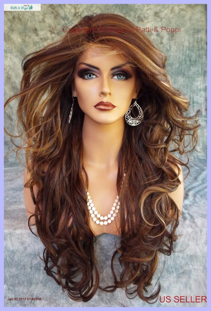 Lace Front Pin W Part Curly Fs8 27 613 Gorgeous Sexy New