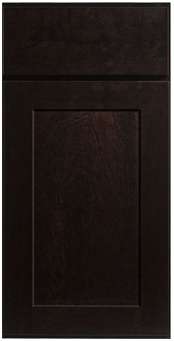 Shaker style Birch or Maple stain color Dark Caramel . Wood is a natural product how dark or light the stain is depends on the nature of the wood grain so not all the doors will the same which is the natural beauty of wood