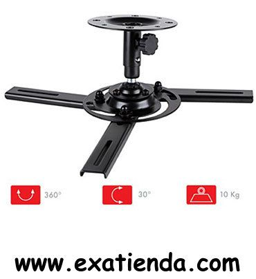 Ya disponible Soporte proyector de techo   (por sólo 32.89 € IVA incluído):   -Soporte metálico de techo para proyectores de video -Orientable horizontalmente: 360º -Orientable verticalmente: 60º -Distancia al techo: 12 cm -Peso max. soportado: 10 kg  -P/N: FONE SPR-546N Garantía de 24 meses.  http://www.exabyteinformatica.com/tienda/4734-soporte-proyector-de-techo #soportes #exabyteinformatica