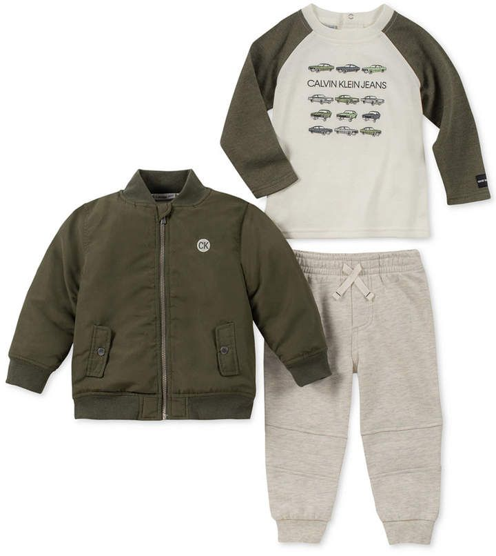 Calvin Klein Baby Boys Thermal Bodysuit Pants Set With Images Baby Boy Outfits Calvin Klein Baby Baby Clothes