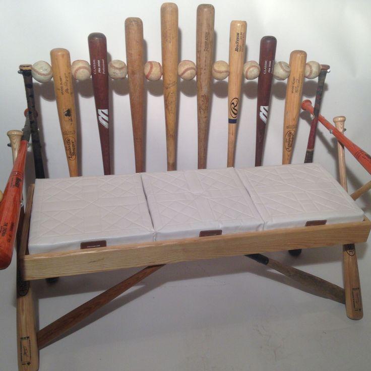 Custom Made Baseball Bat Bench