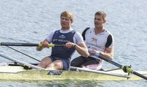 Oxford Blues Constantine Louloudis (left) and Pete Reed came second in the senior GB