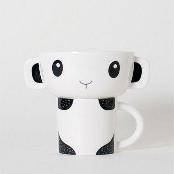 Wee Gallery | Spisesæt Kop & Skål | Panda
