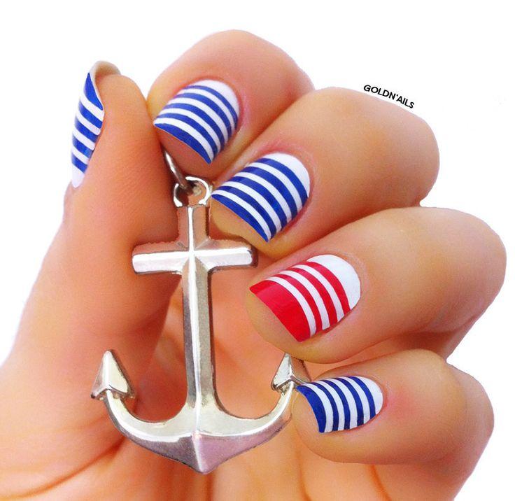 Nailpolis Museum of Nail Art | Sailor Nails by Goldi