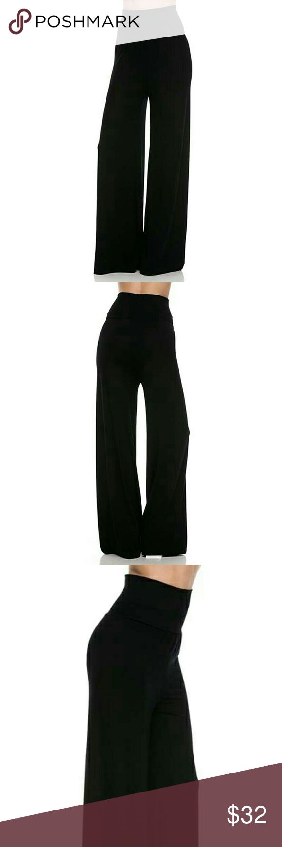 Perfect Jersey Wide Leg Palazzo Pants Perfect Jersey Wide Leg Palazzo Pants with Fold Over Waist Detail. These awesome pants are the perfect comfy and sexy pair of pants for weekend errands or to dress up for a night out. Got Style Pants Wide Leg