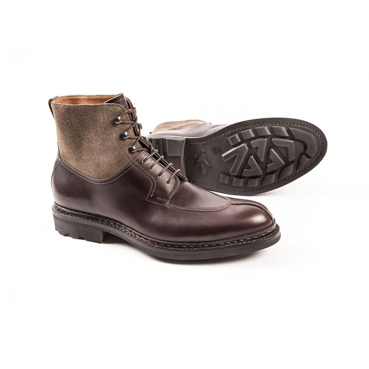 Hunting boots Ginkgo Moro/Taupe : Hunting boots Heschung in moro Suportlo  leather on a rubber sole.