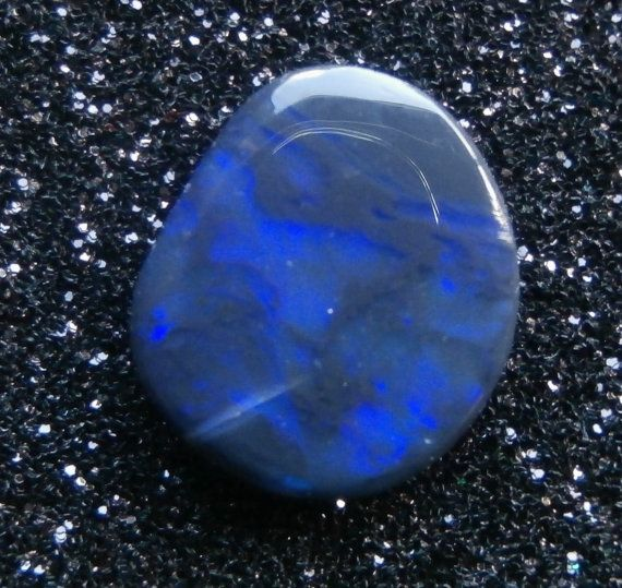 Electric Purple on Black Opal Cabochon from by AllAussieOpals